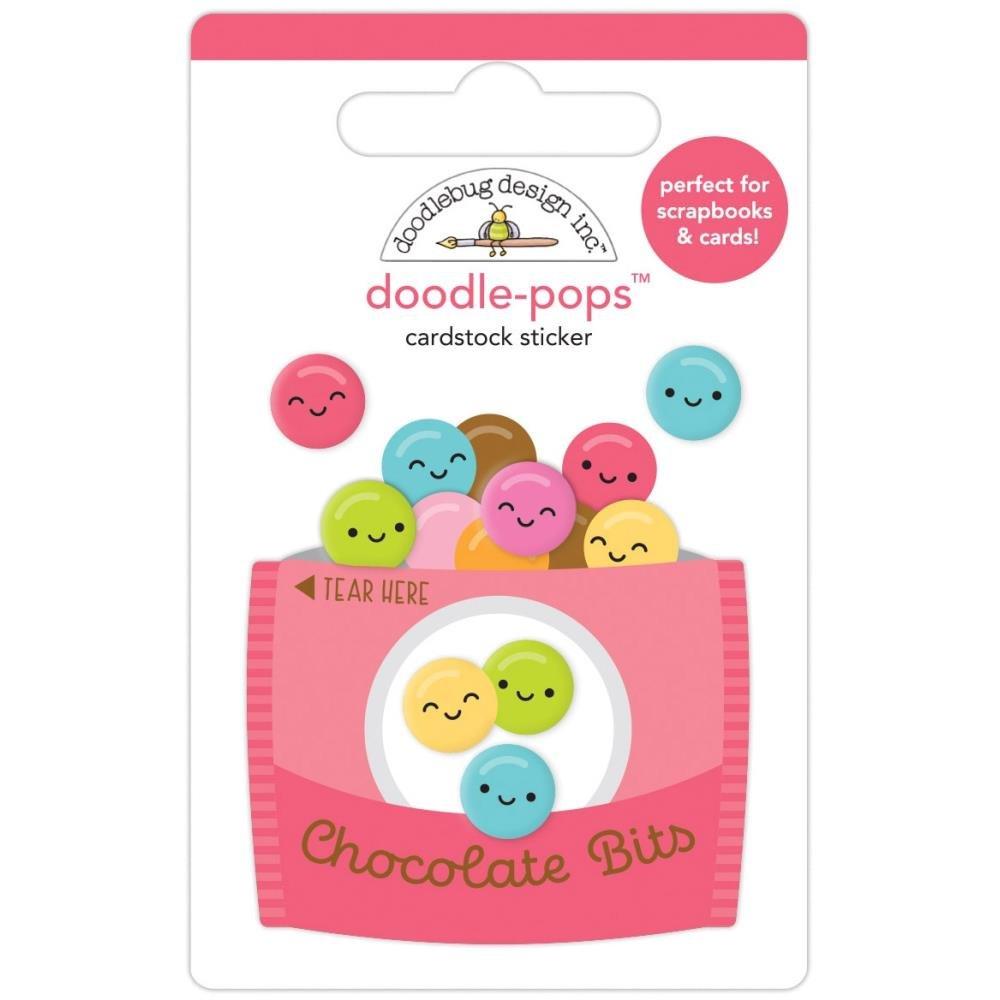 Doodlebug Doodle-Pops 3D Stickers-Chocolate Bits