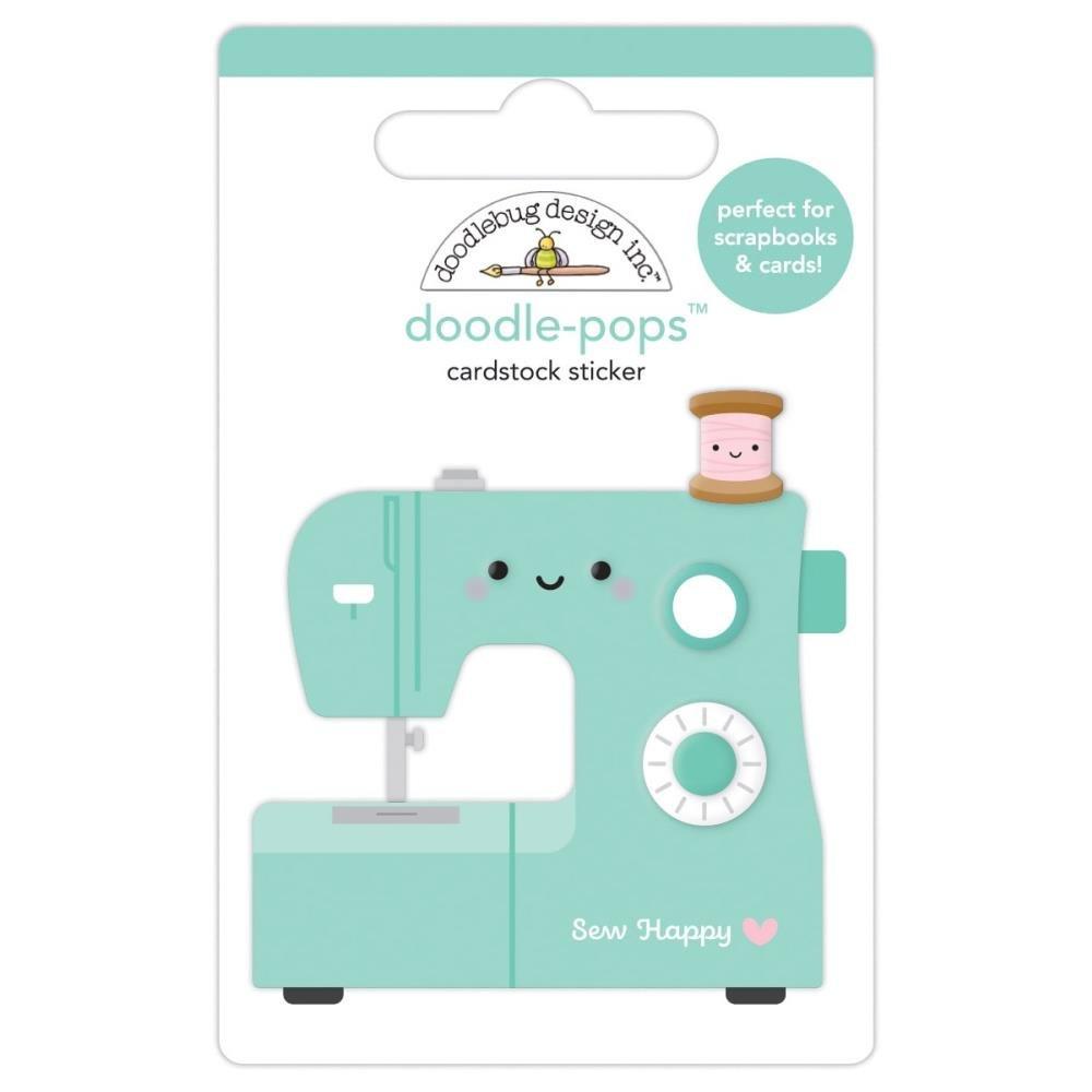 Doodlebug Doodle-Pops 3D Stickers-Sew Happy