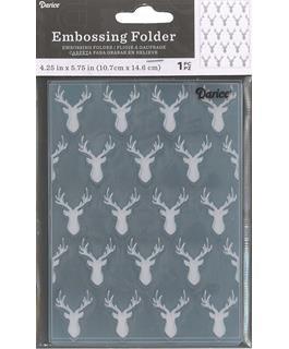 Darice Embossing Folder Deer Heads