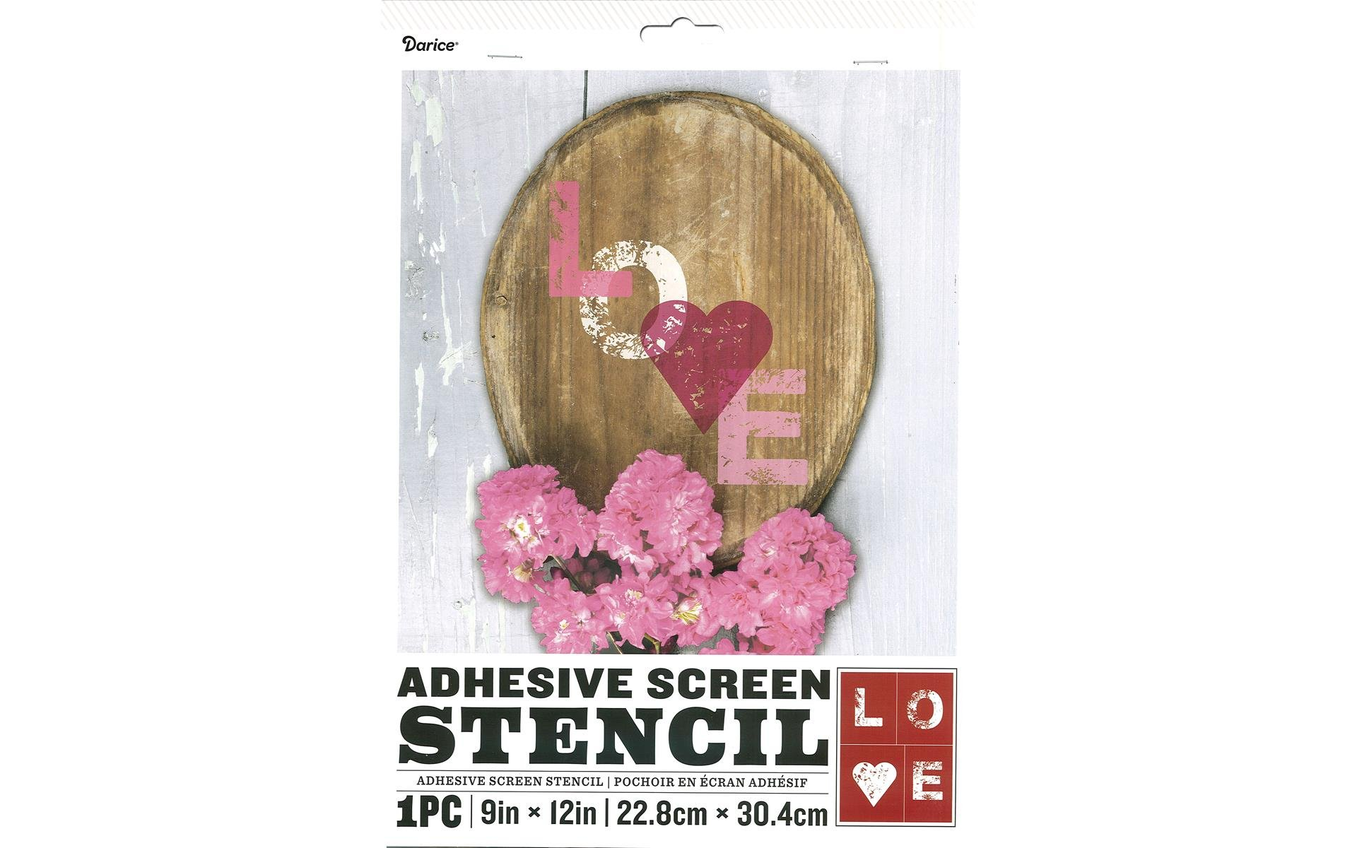 Stencil Self-Adhesive 9x12 Love