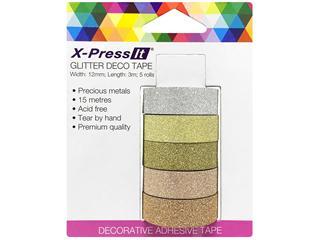 X-Press It Deco Tape Glitter Metal