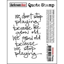 PLAYING   -CLING STAMP