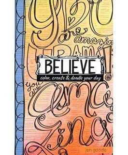 Leisure Arts Doodle Pages Believe Coloring Book