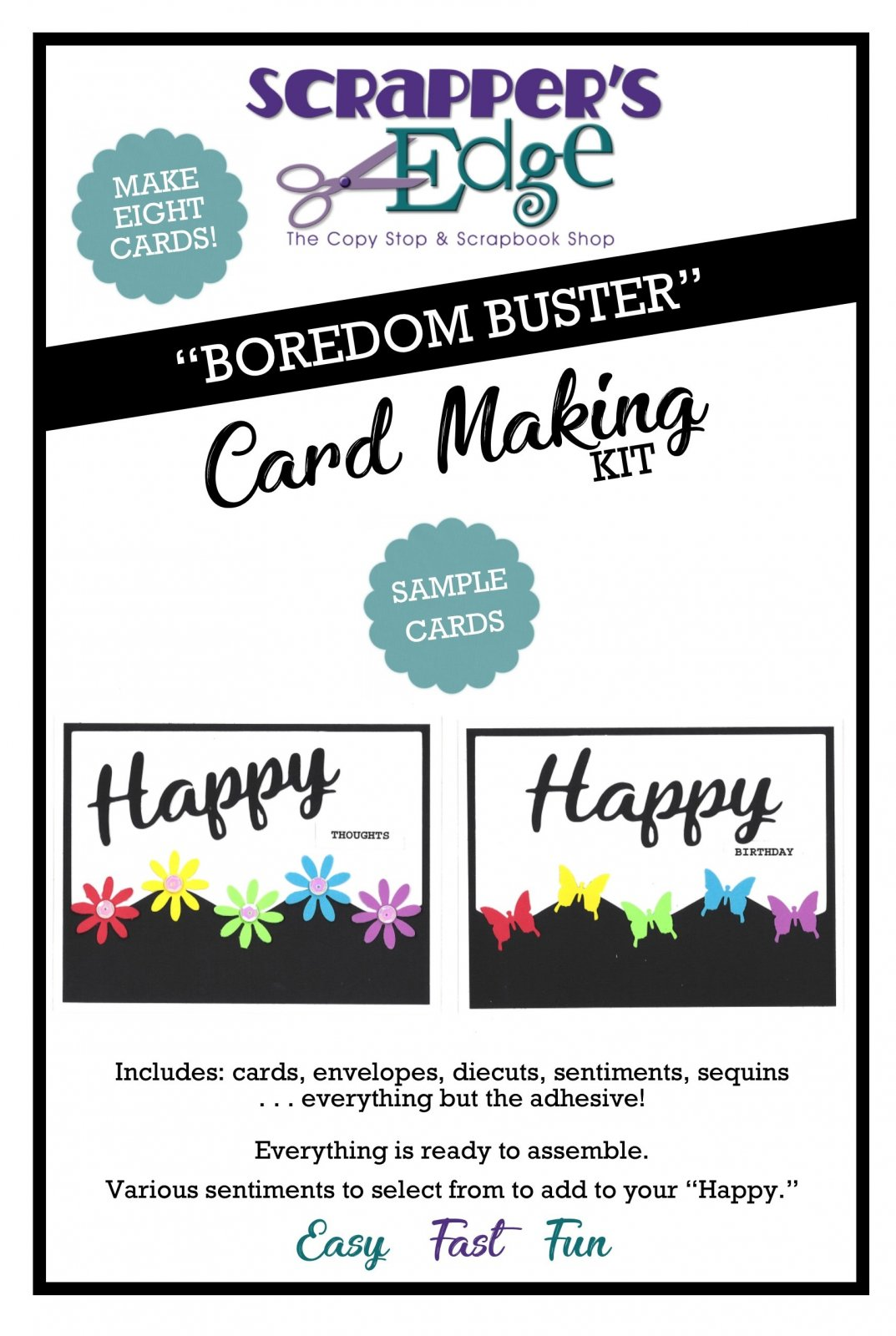 Boredom Buster Cardmaking Kit - Flowers & Butterflies