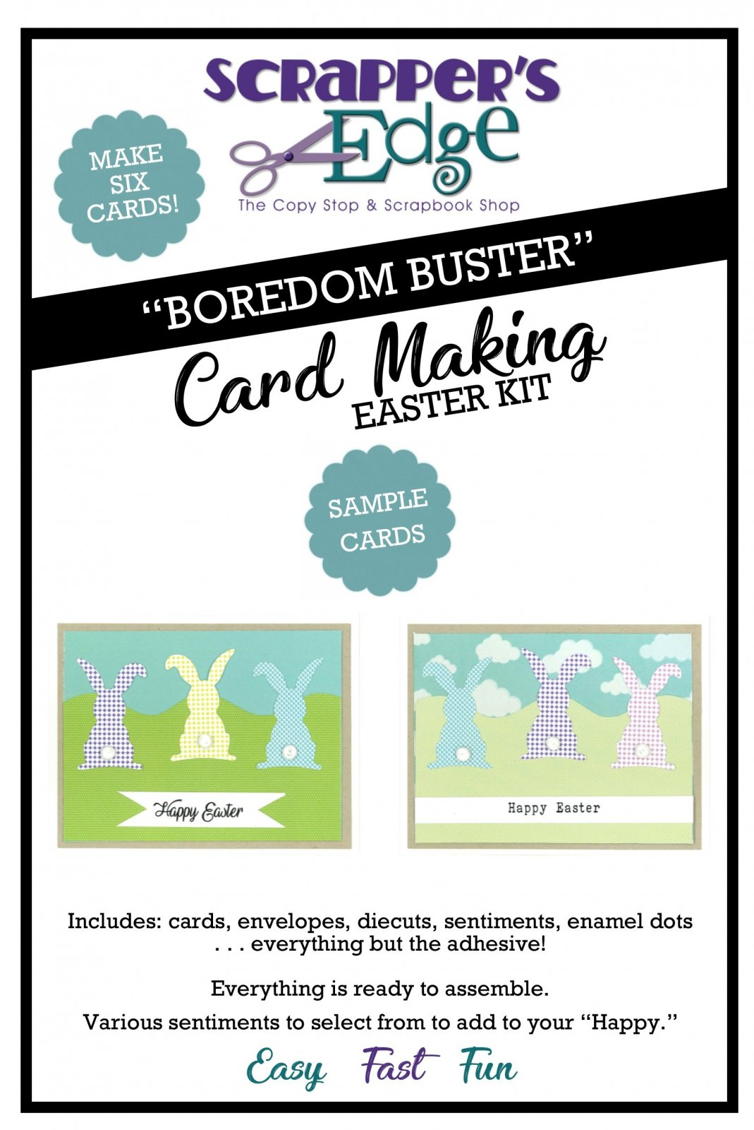 Boredom Buster Cardmaking Kit - Easter