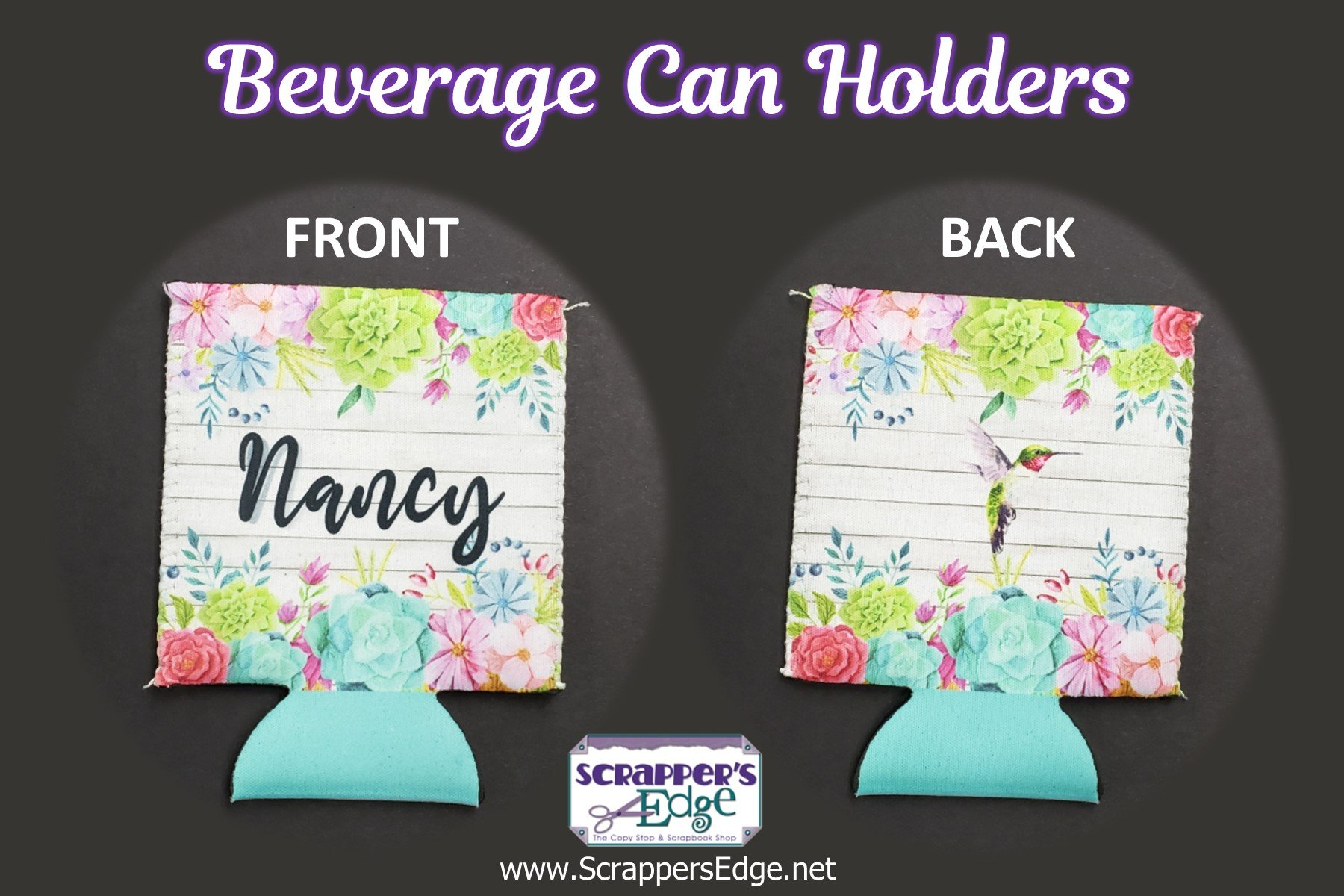 Personalized Beverage Can Holder
