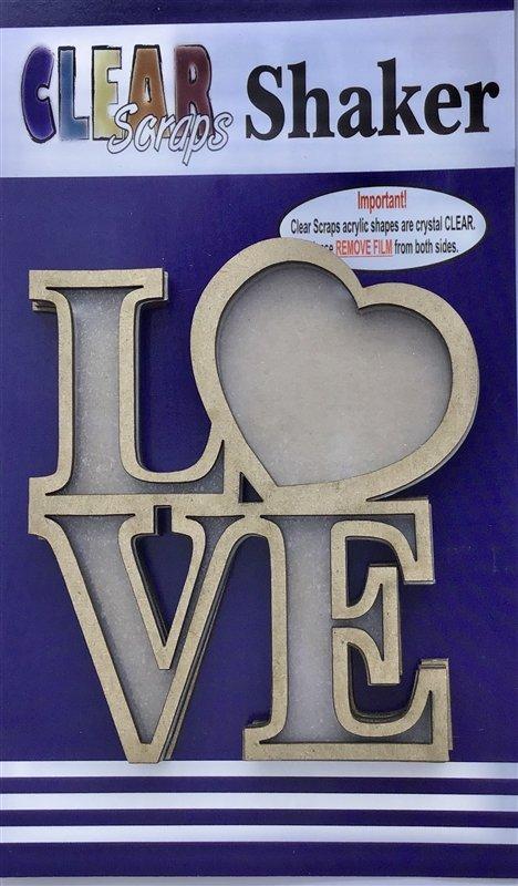 Clear Scraps LOVE Shaker