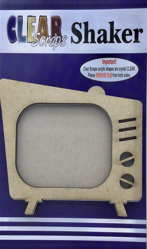 Clear Scraps Retro TV Shaker