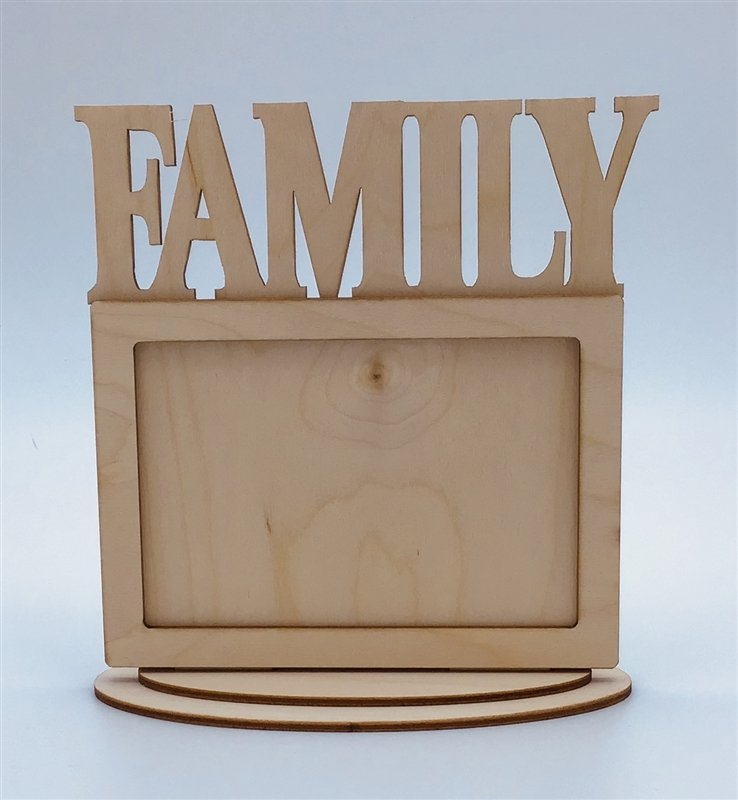 Clear Scraps Desktop Frame - Family