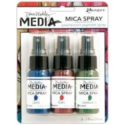 Dina Wakley Media Mica Sprays (Includes Ruby Lapis & Evergreen)