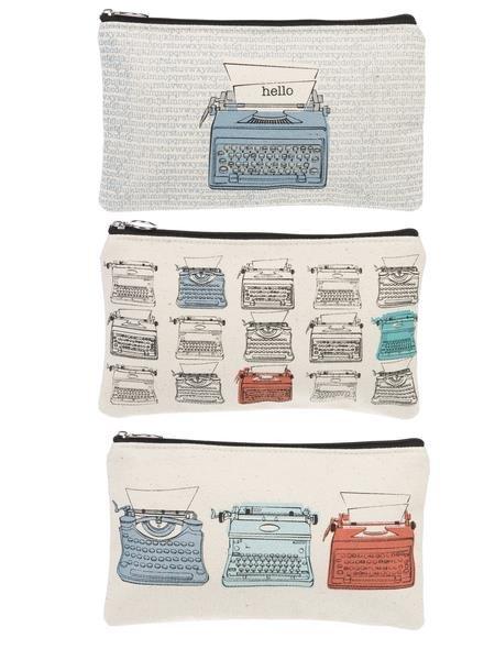 Typewriters Zipper Case