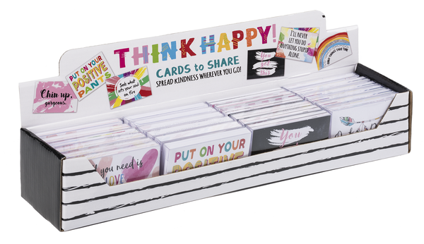Think Happy Handout Cards