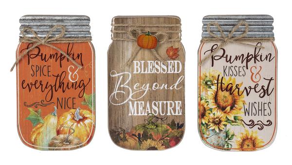 Mason Jar Plaques, Fall