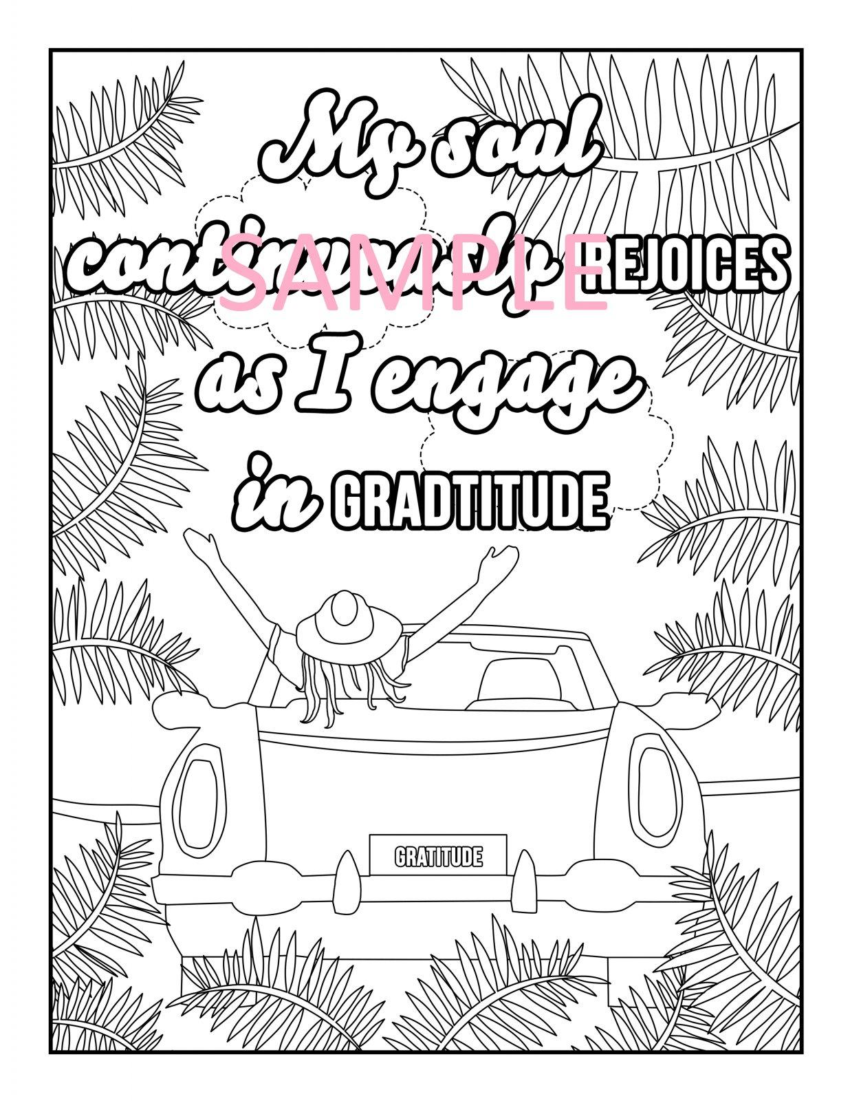 Gratitude Coloring Page 1
