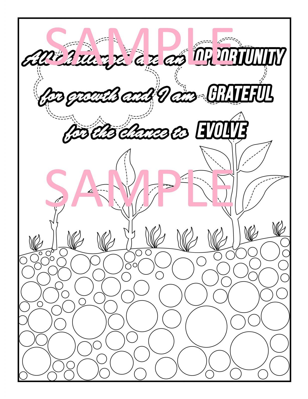 Gratitude Coloring Page 11