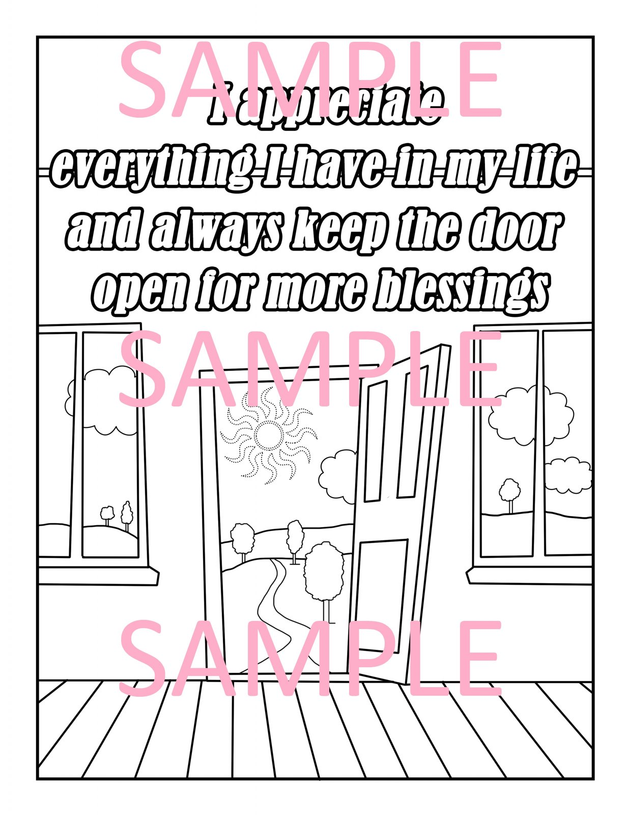 Gratitude Coloring Page 15