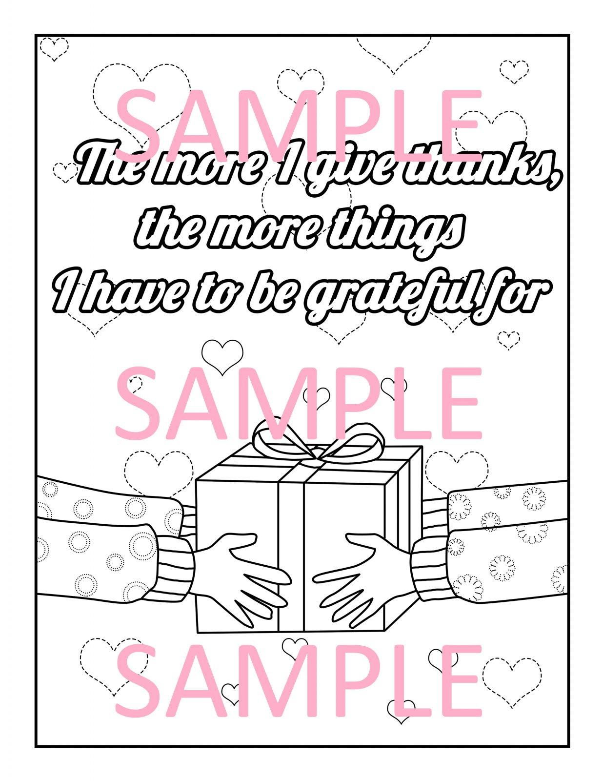 Gratitude Coloring Page 19