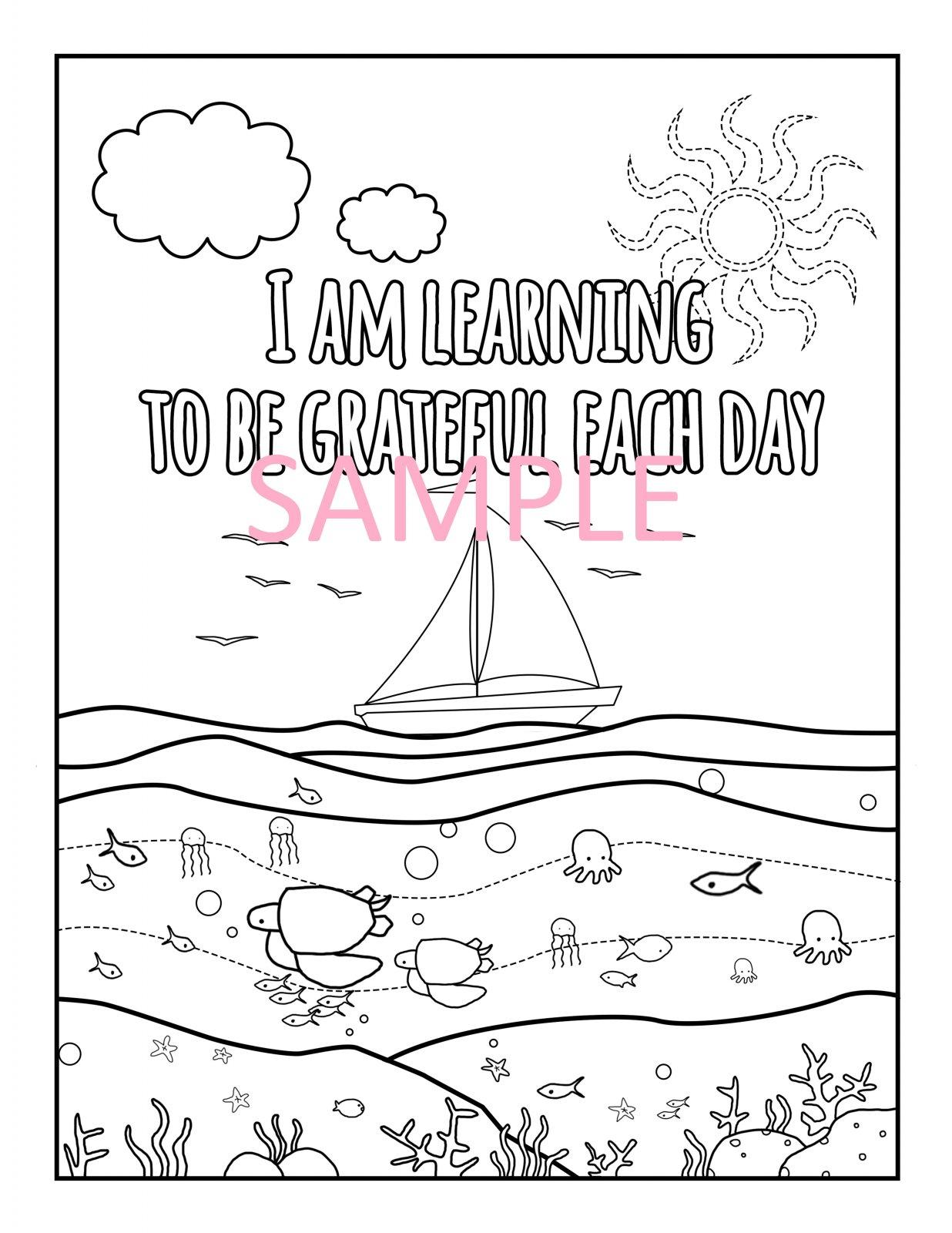 Gratitude Coloring Page 3