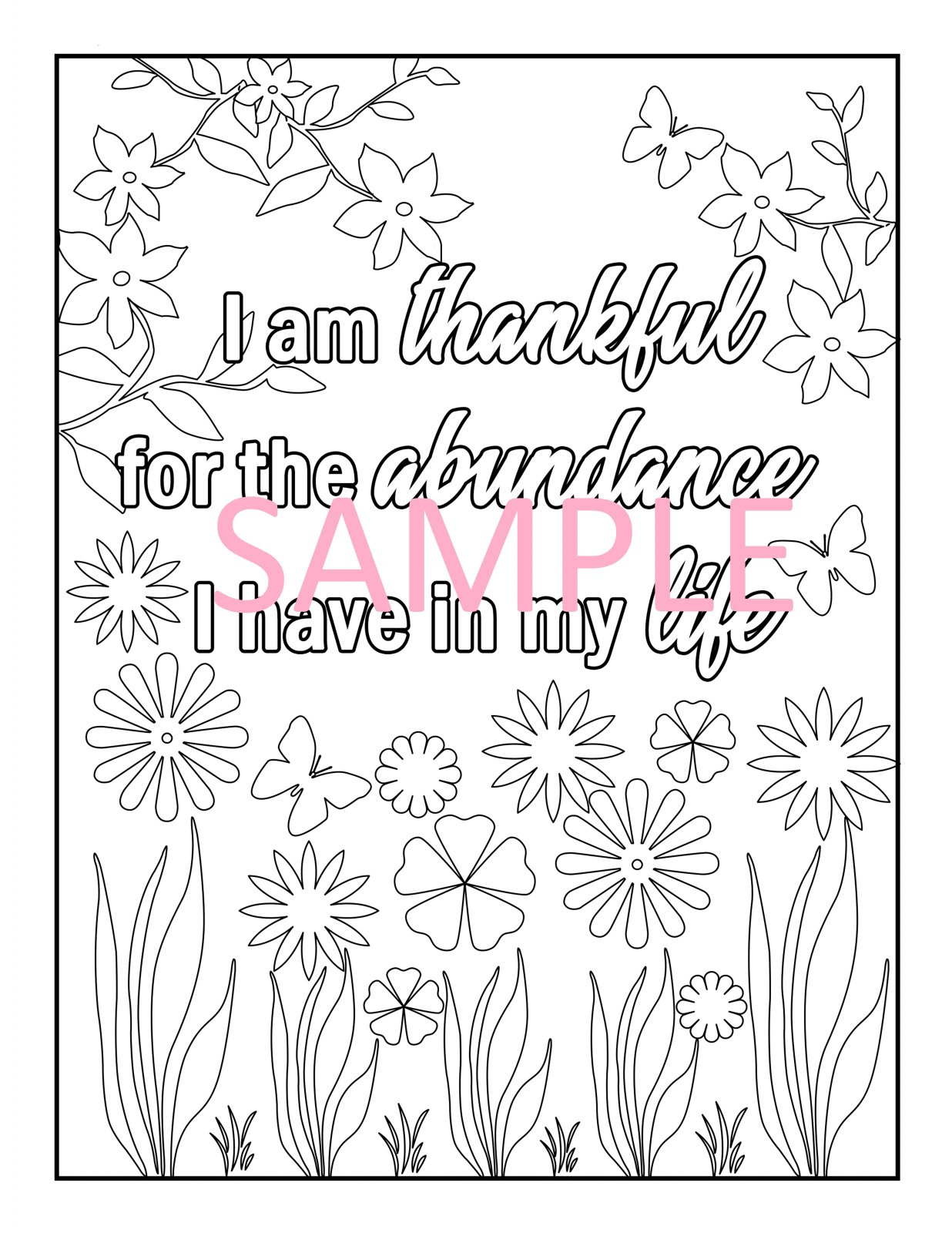 Gratitude Coloring Page 4