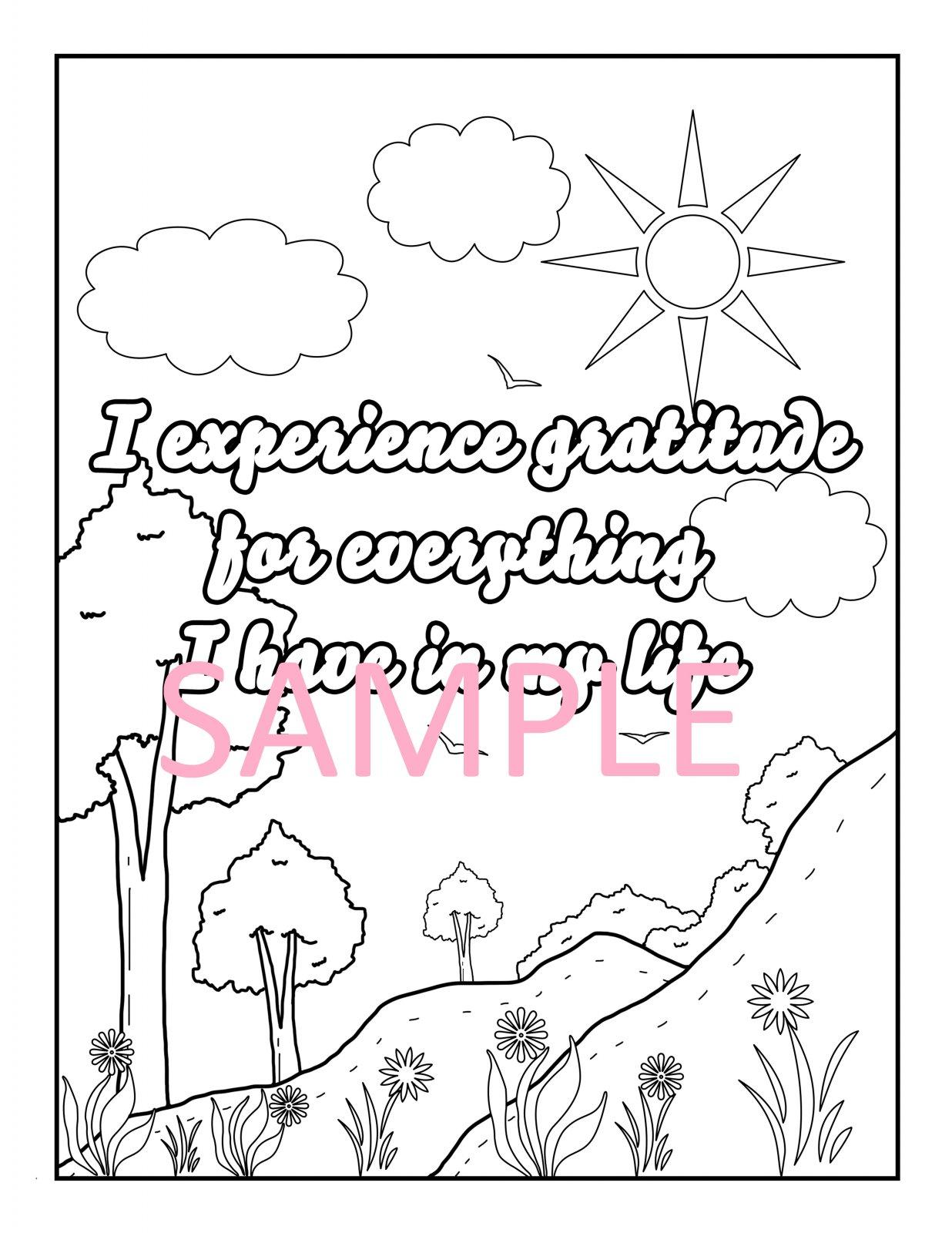 Gratitude Coloring Page 5