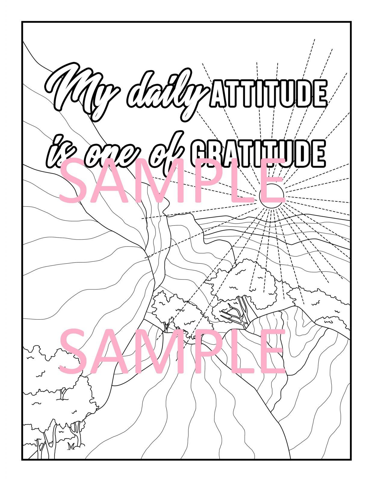 Gratitude Coloring Page 7