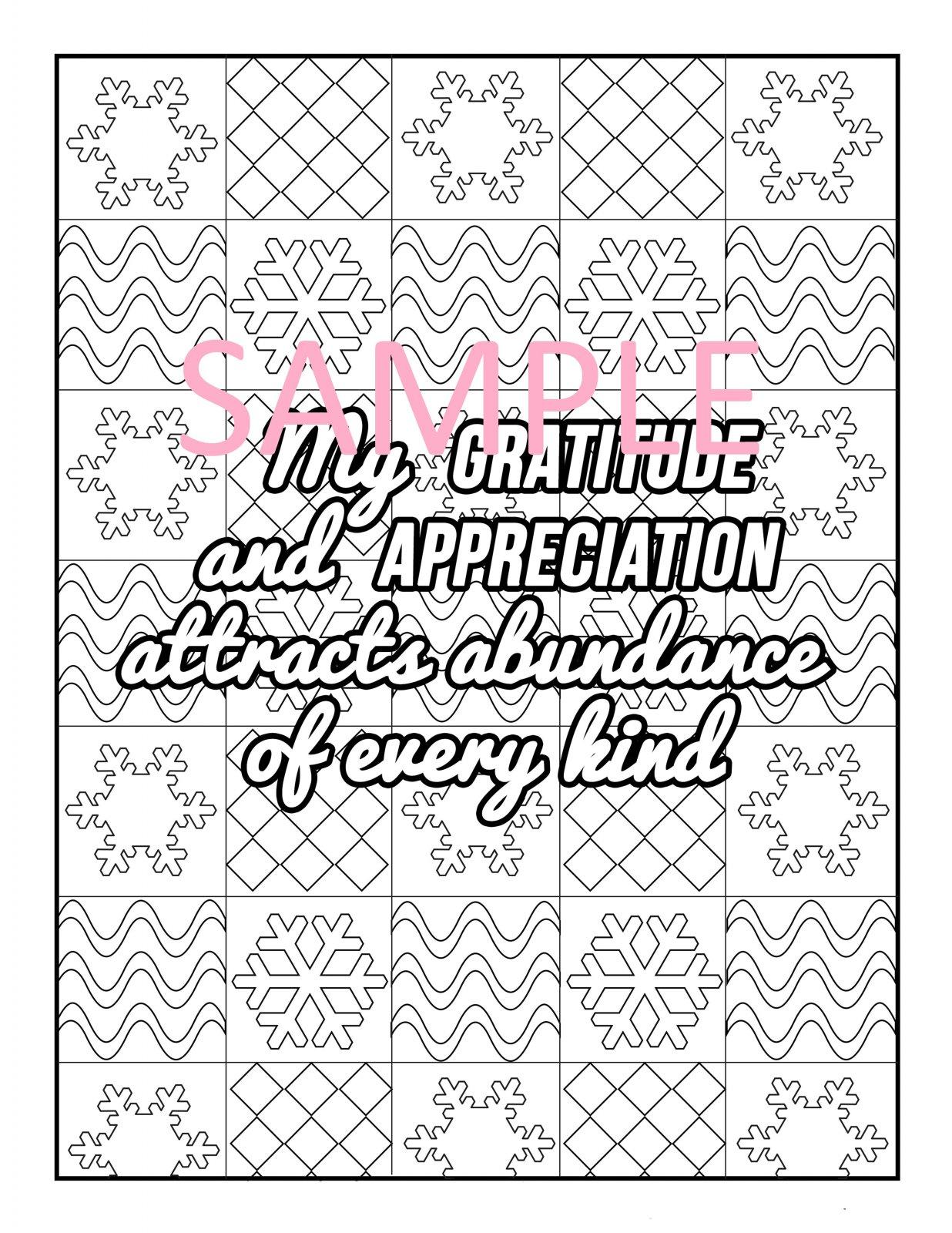 Gratitude Coloring Page 9
