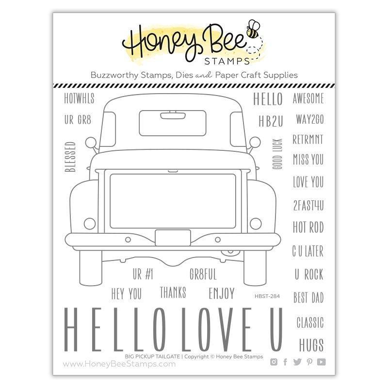 Honey Bee Stamps - BIG PICKUP TAILGATE Stamp Set