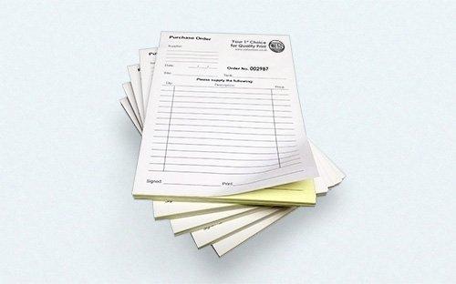 NCR (Carbonless) Forms 8.5x14 (1 up) Black Printing
