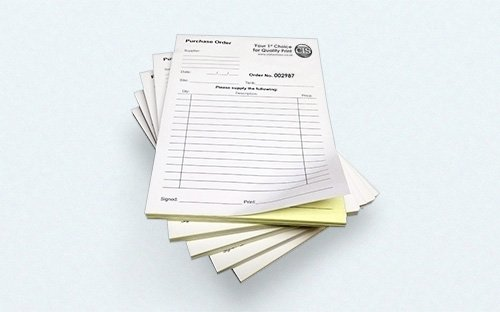 NCR (Carbonless) Forms 8 1/2x11 (1 up) Black Printing