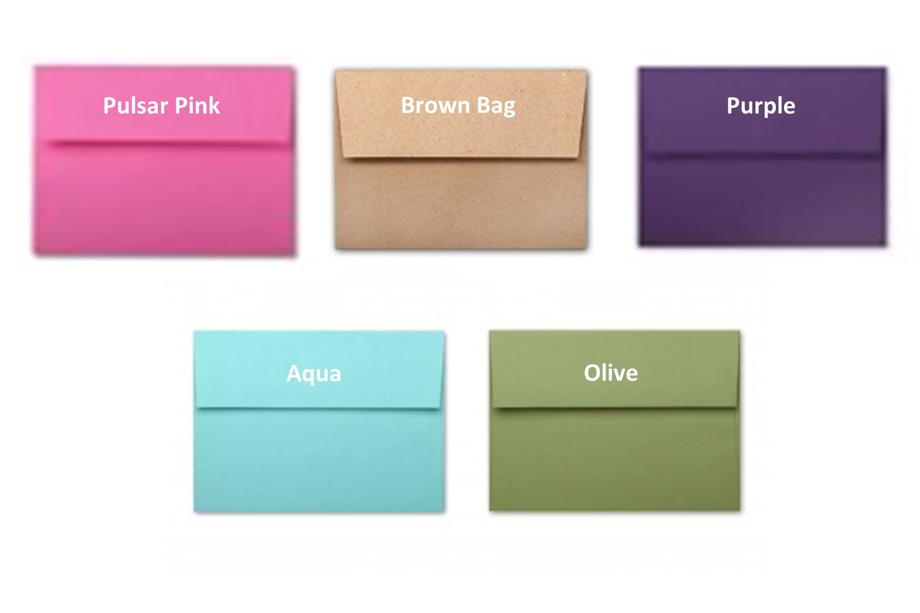 Envelopes, A2, Specialty Colors, 25 packs