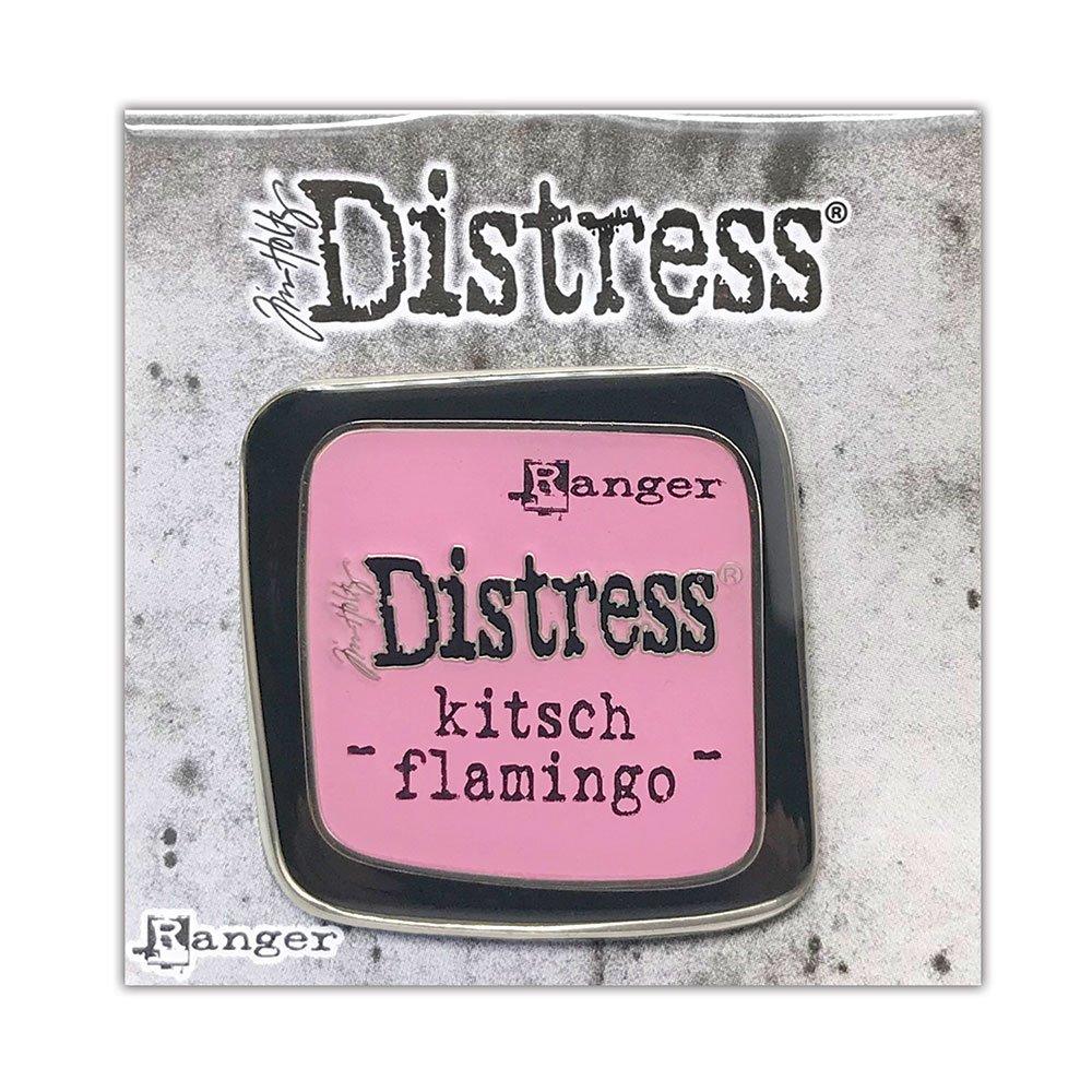 Tim Holtz Distress Enamel Collector Pin-Kitsch Flamingo