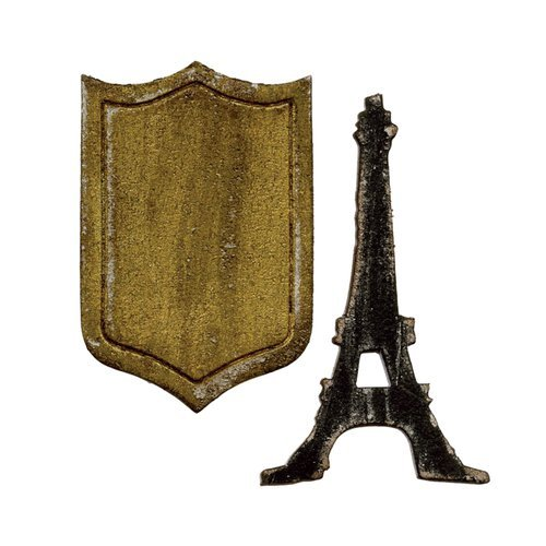 TH MINI EIFFEL TOWER AND SHIELD-SIZZIX DIE