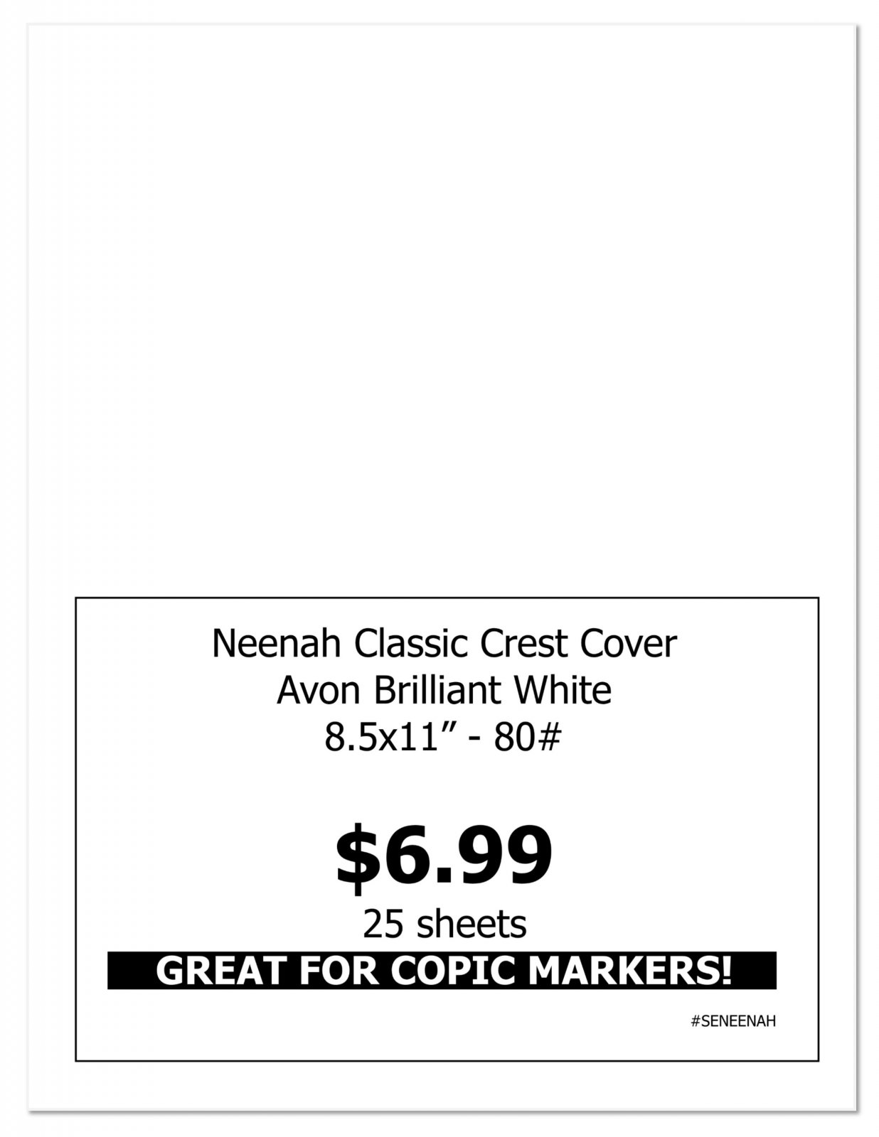 Neenah Classic Crest Cover Pack - Great for Copic Coloring!