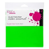 Neon Enamel Transfer Sheets - Electro-Pop Screamin' Green