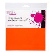 Neon Enamel Transfer Sheets - Electro-Pop Orange Glow