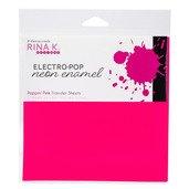 Neon Enamel Transfer Sheets - Electro-Pop Poppin' Pink