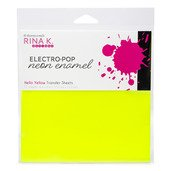 Neon Enamel Transfer Sheets - Electro-Pop Hello Yellow