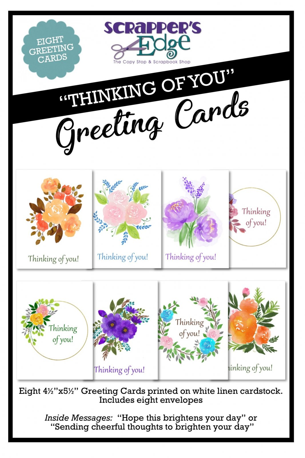 Thinking of You Greeting Cards - Set of 8