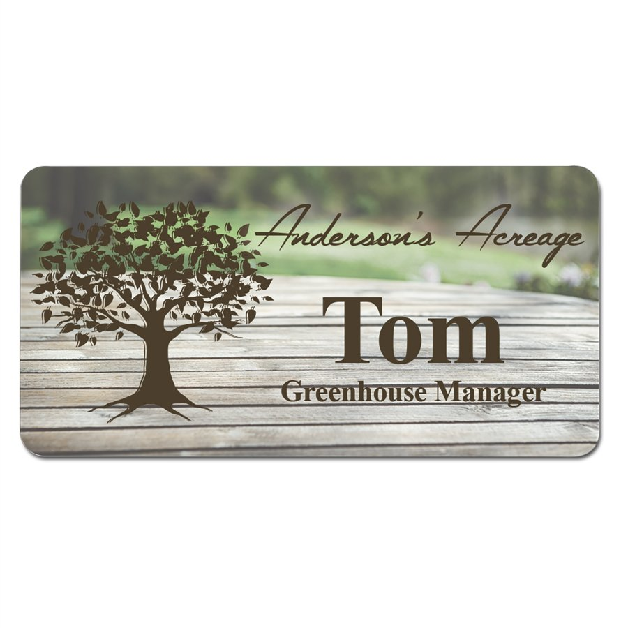 Personalized Name Badge, 3x1.5