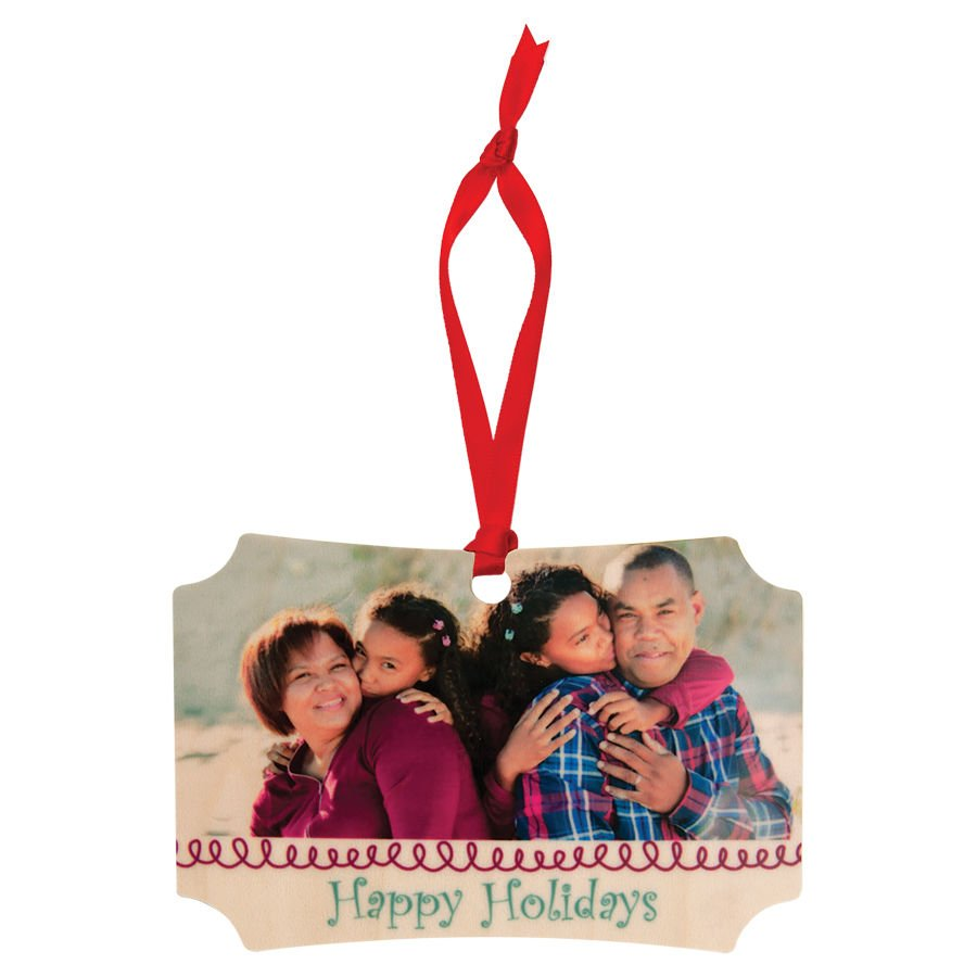 Personalized Ornament Maple 4x2.75
