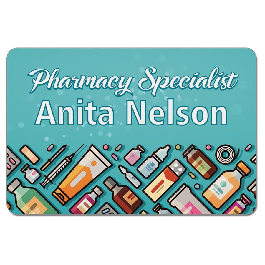 Personalized Name Badge, 3x2