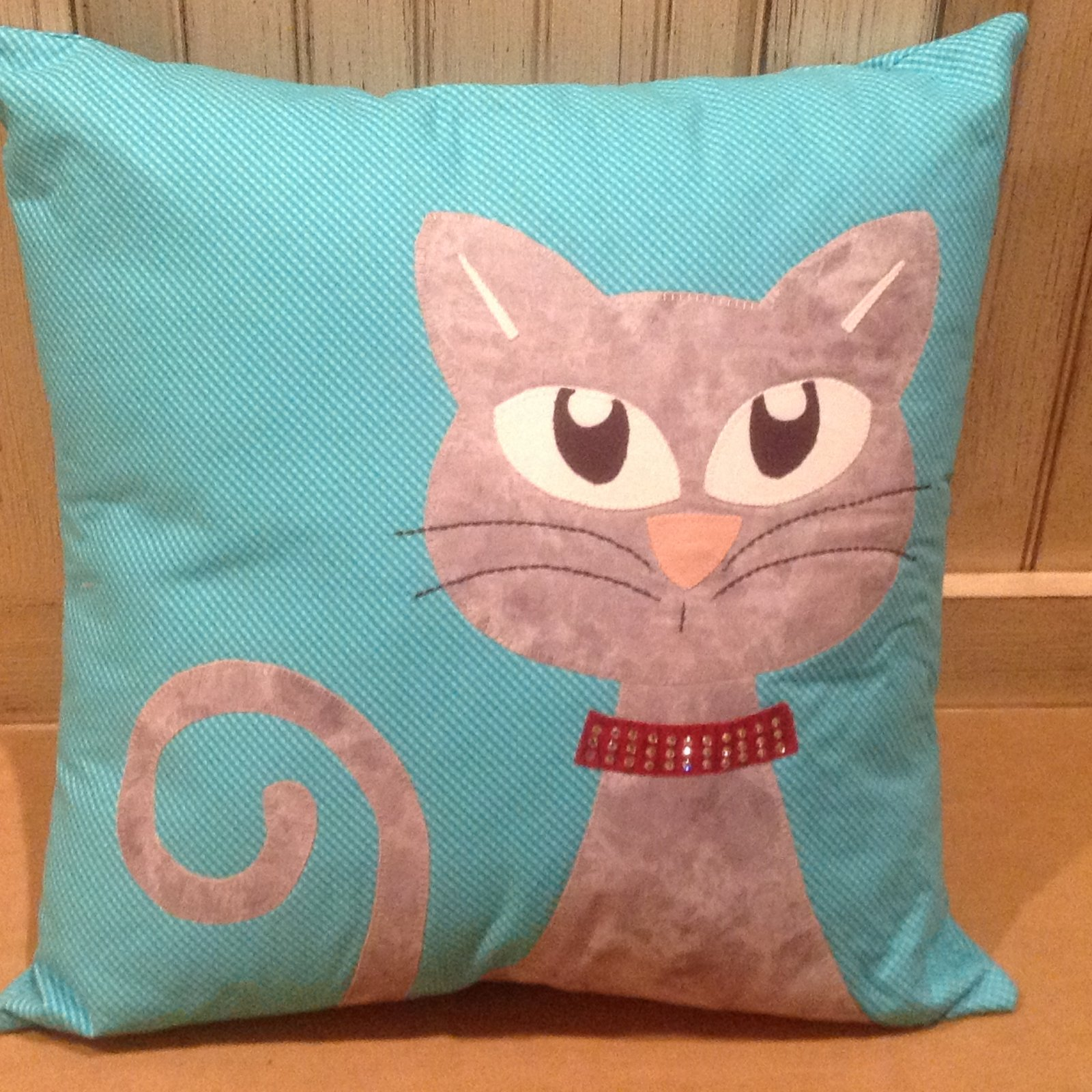 Ali's Cat Pillow Kit with Swarovski Crystals