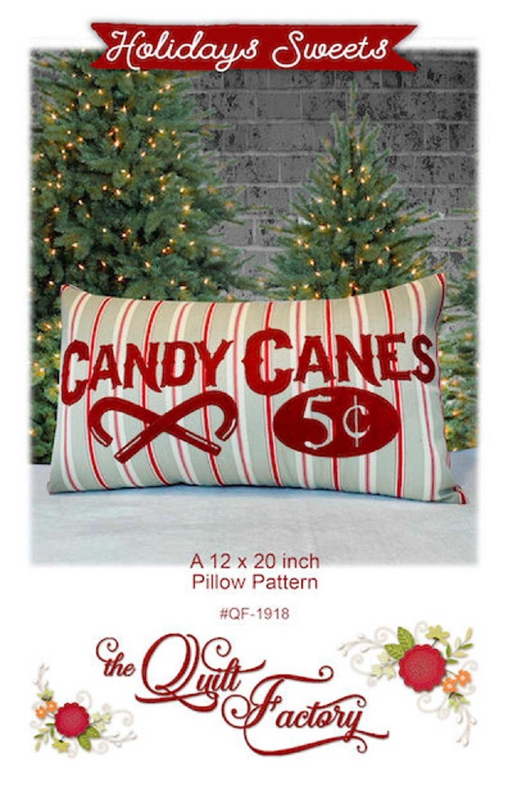 Holiday Sweets Pillow Pattern by The Quilt Factory