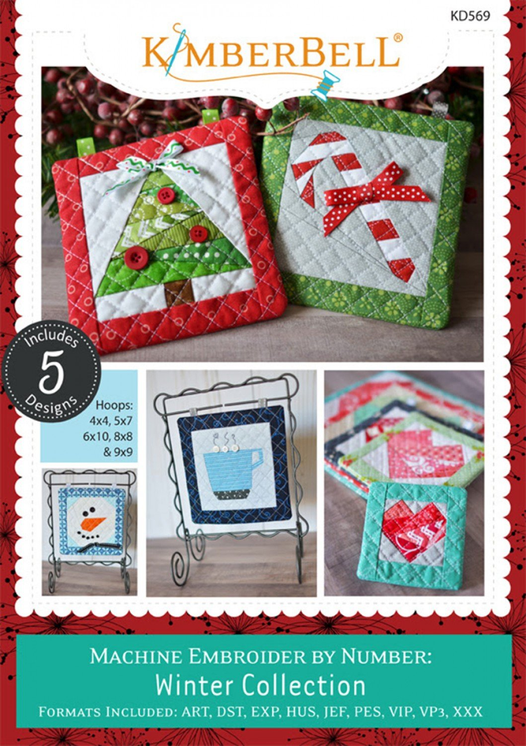 Kimberbell Winter Collection Machine Embroider By Number CD
