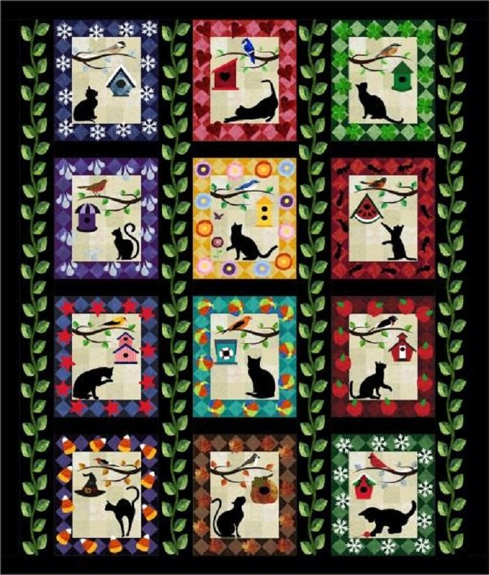 Purr-Fect Moments Quilt Kit by RJR