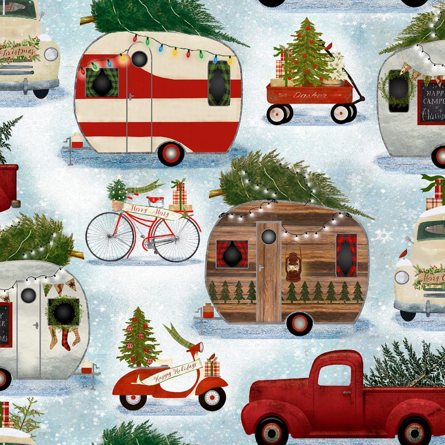 Christmas Campers  # 15136-Blue
