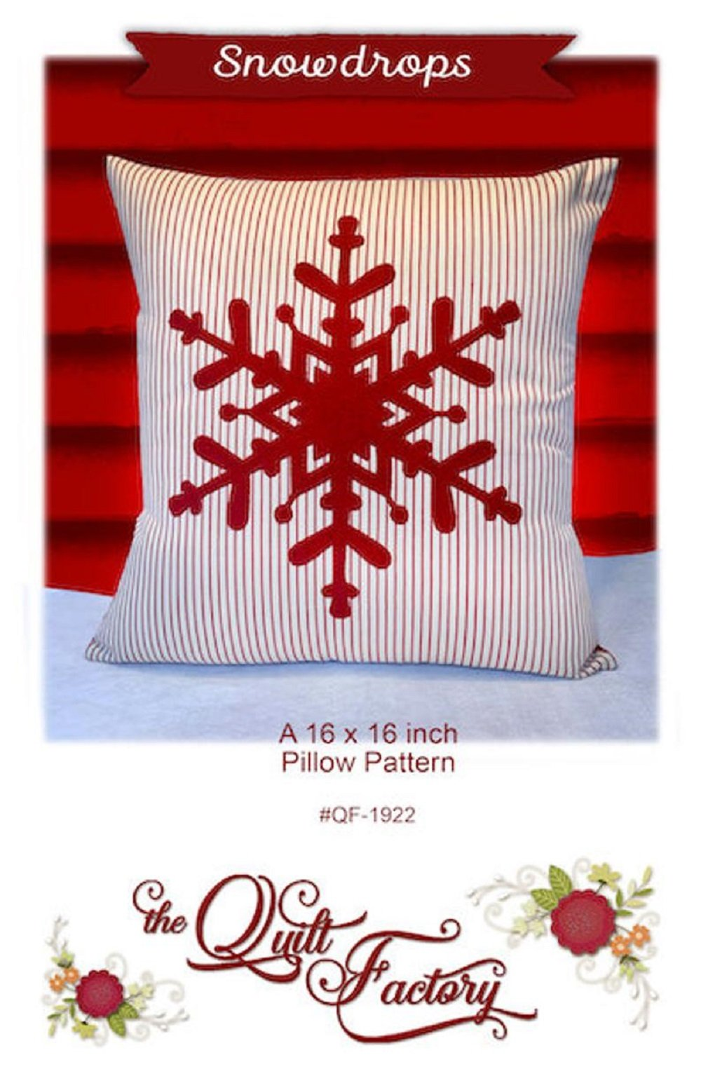 Snowdrops Pillow Pattern by The Quilt Factory