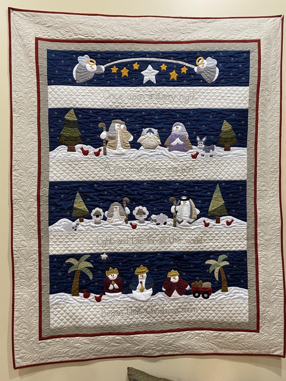 Snowman Nativity Quilt Kit