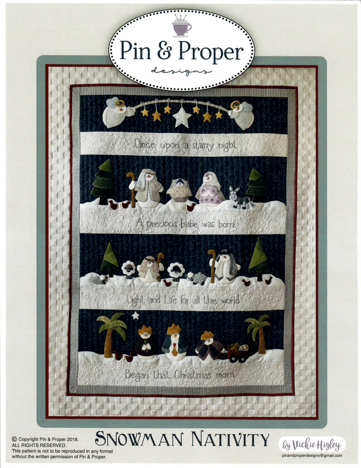 Snowman Nativity Pattern by Pin & Proper Designs