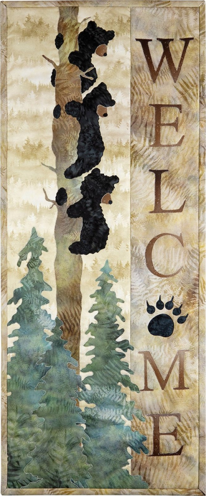 Welcome Bear Inn Quilt & Laser Cut Kit by Mckenna Ryan